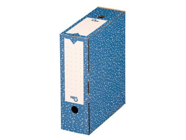 20 Nips Archivboxen 10cm blau