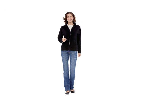 """memo Damen Fleece-Jacke """"Nature""""schwarz Gr.XL aus Bio-Baumwolle mit Fairtrade Siegel"""