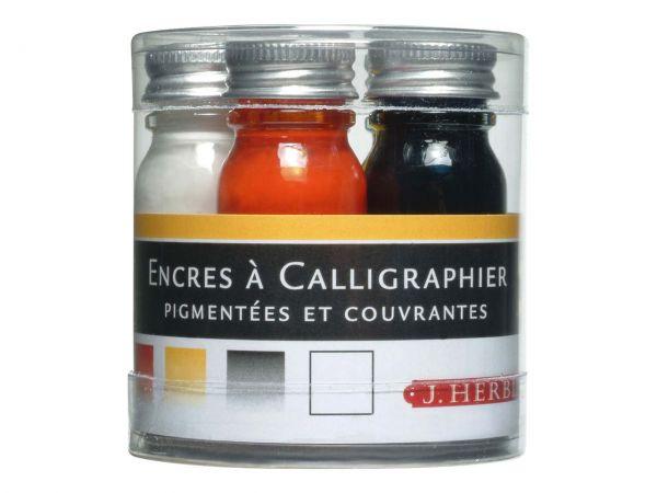 J. Herbin Kalligrafie-Tintenset, 5 x 10 ml, farbsortiert