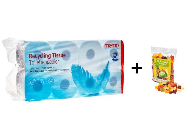 memo Toilettenpapier 3-lagig (72 Rollen) + Gummibärchen gratis