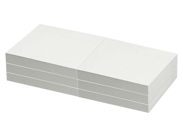 6 memo Recycling-Haftnotizen 100 Blatt 75 x 75 mm, weiß