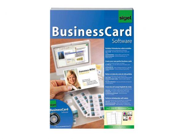 Sigel Card-Designer CD mit 200 Visitenkarten