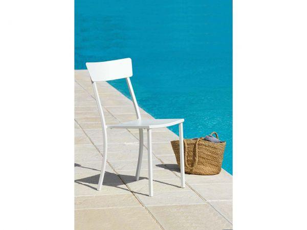 """Gartenstühle """"Newtown"""" B 47 x T 50 x H 88 cm, weiß, 4er-Pack"""