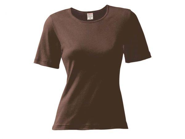 memo Damen-Shirt Gr. S mokka 180g/m² Bio-Baumwolle mit Fairtrade-Siegel