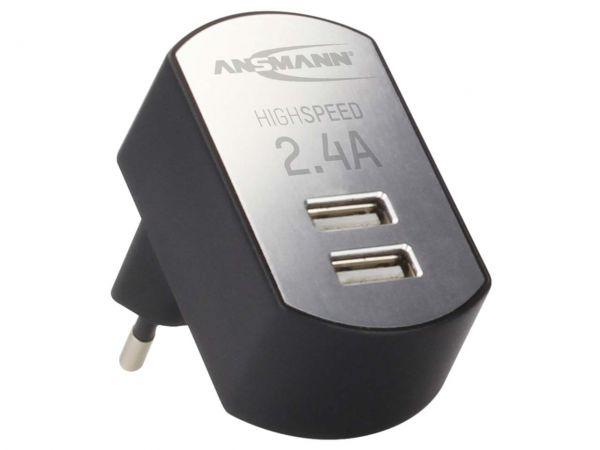 "Ansmann USB-Ladegerät ""iUSB Charger 2.4 DUO"""