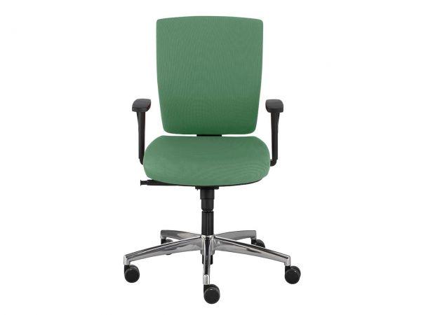 "Bürodrehstuhl ""Go-On"" mit harten Rollen grün"