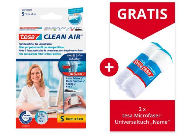 "tesa Feinstaubfilter ""Clean Air"" Größe S + Gratis 2 tesa Mikrofasertücher 80 x 38 cm"