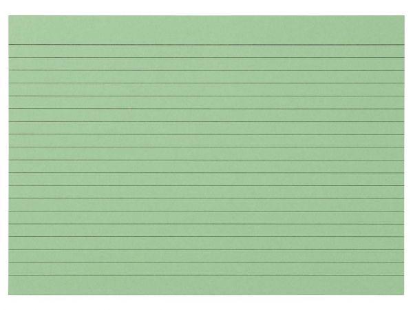 100 memo Karteikarten liniert DIN A5 grün