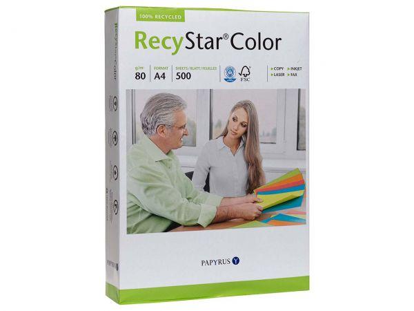 """500 Blatt Farbiges Recycling-Kopierpapier """"RecyStar Color"""" A4 moosgrün"""
