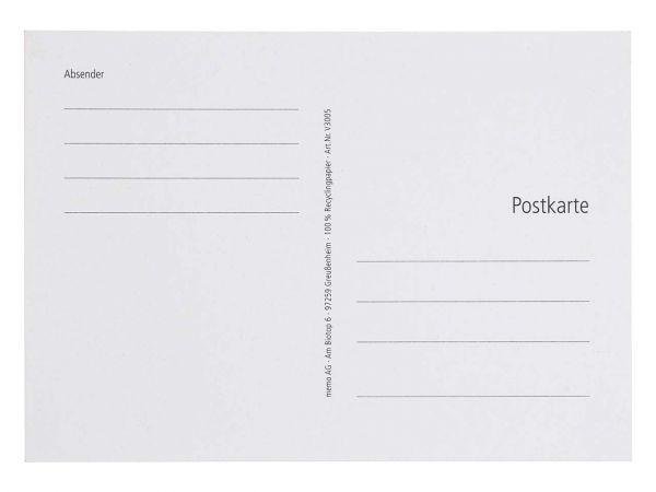 50 Postkarten 170 g/m² grau