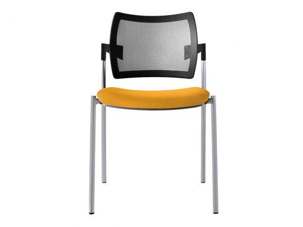 """Konferenzstuhl """"CHOICE"""" Sitz gepolstert, mit Netzrücken, ohne Armlehnen, gelb"""
