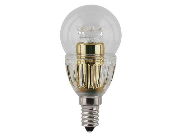 "Civilight LED-Lampe ""Classic P Crystal Gold"" Mini-Globe 4 W, E14, 250 lm"