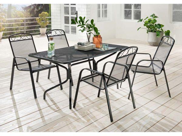 """Gartenmöbel-Set """"Luise"""" 5-teilig, 4 Sessel, 1 Tisch"""