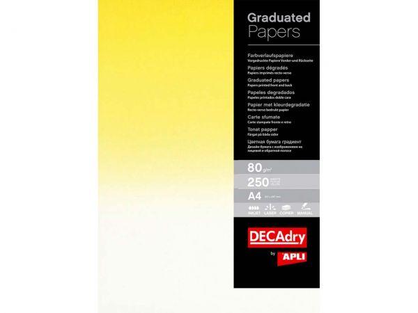 250 Blatt Recycling-Verlaufspapier gelb
