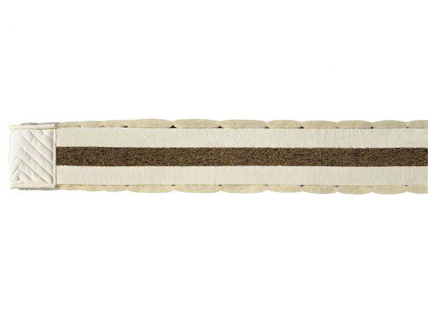 """Latex/Kokos-Matratze """"Coniveo 3"""" H 14 cm, 80 x 200 cm, für 71-80 kg, Baumwolle/Schurwolle"""
