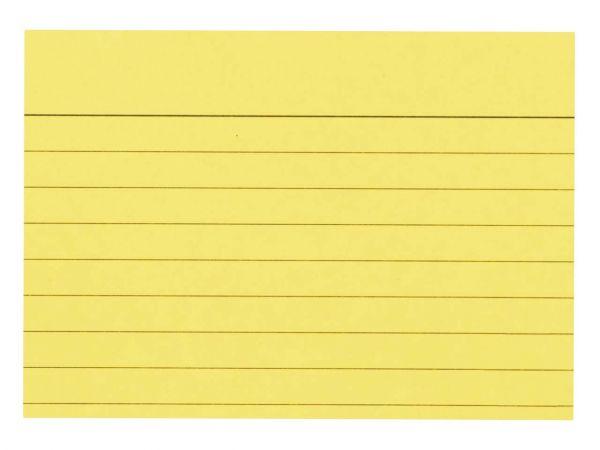 100 memo Karteikarten liniert DIN A7 gelb