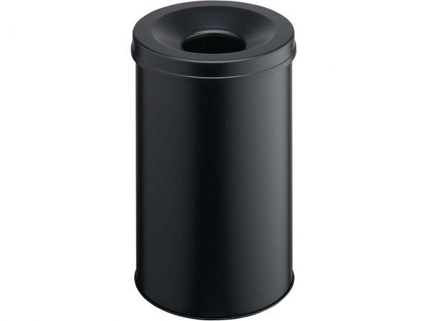 Durabel Papierkorb mit Flammschutz 30 l schwarz