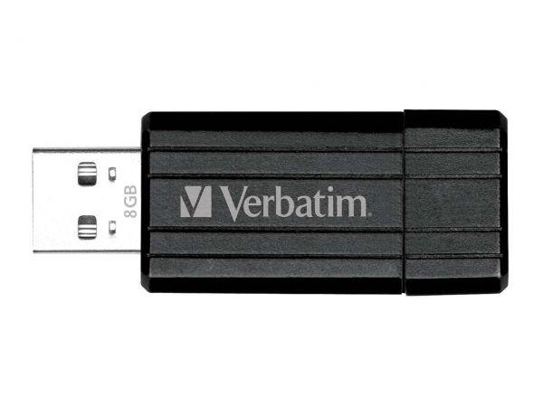 "Verbatim USB-Stick ""PinStripe"" schwarz, 8GB, USB 2.0"
