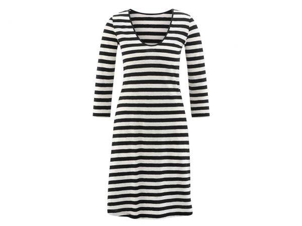 """Bio-Damen-Kleid """"Ebony"""" schwarz/weiß, Gr. XS"""
