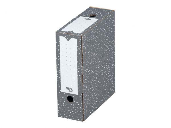 20 Nips Archivboxen 10cm antrazith