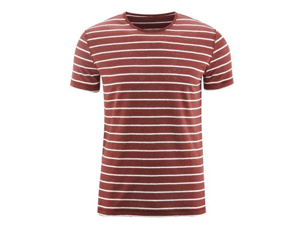 "Bio-Herren-T-Shirt ""Andy"" weiß/rot, Gr. S"