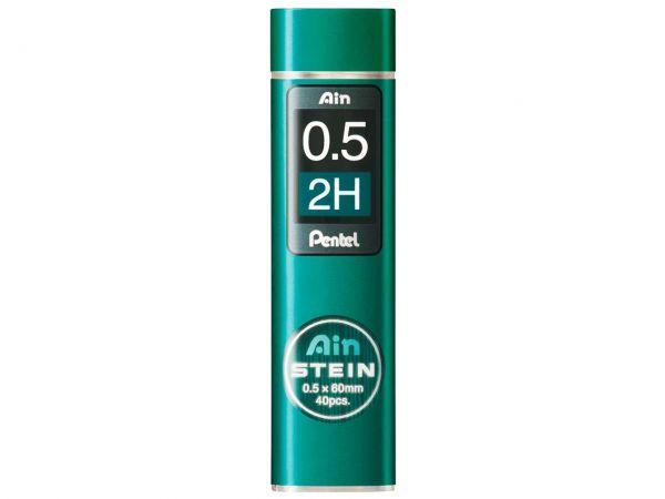 "40 Pentel Hi-Polymer-Mine ""AIN STEIN"" 0,5 mm, Stärke  2H"