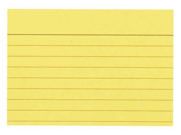 100 memo Karteikarten liniert DIN A8 gelb