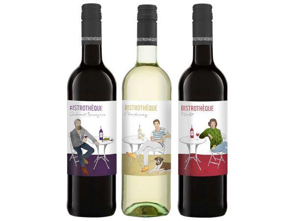 """Bio-Weinpaket """"BISTROTHÈQUE"""" 3 x 0,75 l"""