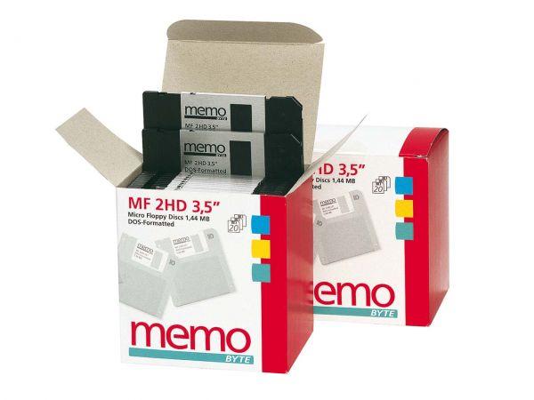 20 memo-Disketten 3.5 MF2-HD formatiert