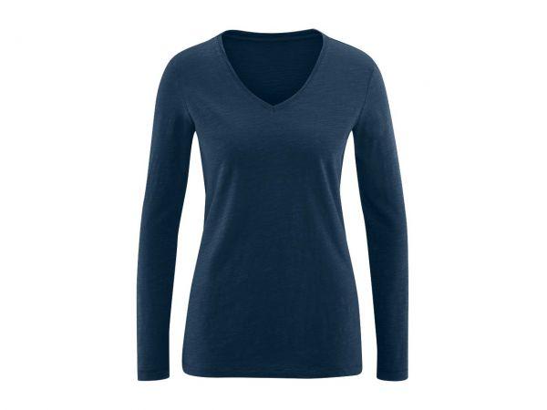 """Bio-Damen-Langarmshirt """"Dora"""" blau verwaschen, Gr. S"""
