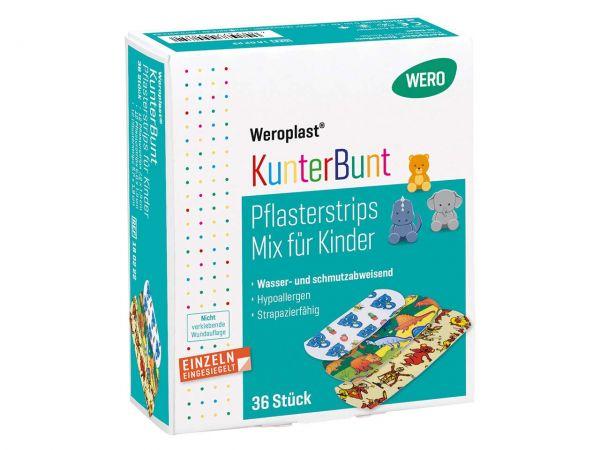 """36 Stk. WERO Kinderpflaster """"Weroplast KunterBunt Mix"""""""