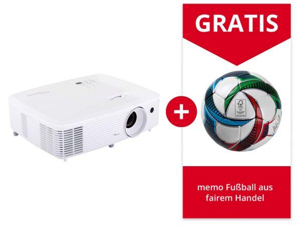 "Optoma Full HD Beamer ""HD27e"" mit Gratis memo Fußball Gr. 5"