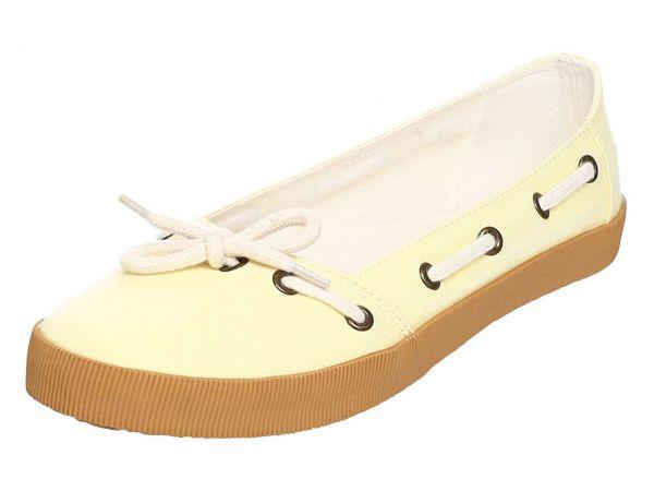"""Organic Sneaker Ballerina """"Leni"""" Gr. 36, gelb"""