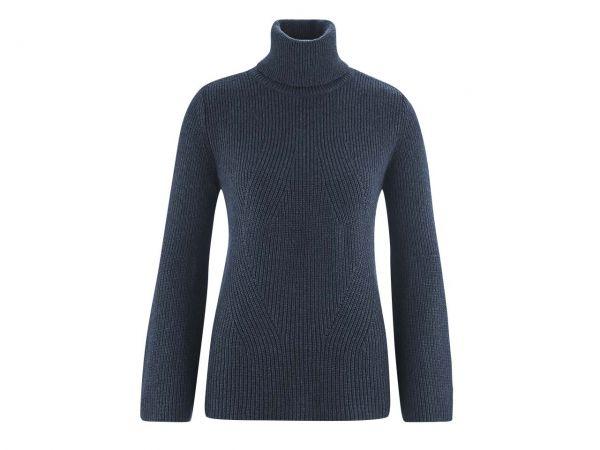 "Bio-Damen-Pullover ""Florine"" dunkelblau melange, Gr. S"