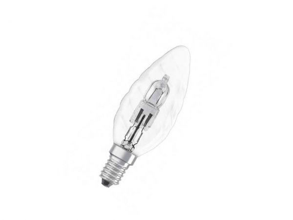 OSRAM Halogen-Kerzenlampe 'Classic', E14, 46W, 700lm, klar/gedreht, 230V