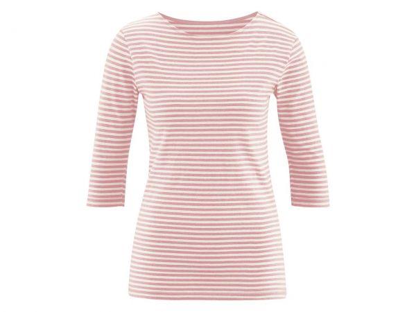 "Bio-Damen-T-Shirt ""Elise"" strawberry cream/natur, Gr. L"