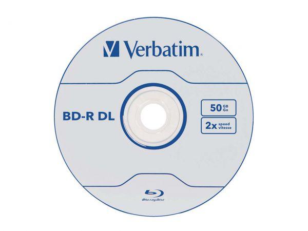 Verbatim Blu-ray Disc BD-R DL, 50 GB, 1-6x