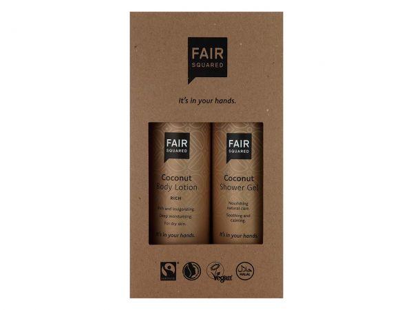 """Fair Squared Geschenkset """"Coconut"""" Bodylotion 250 ml und Duschgel 250 ml"""