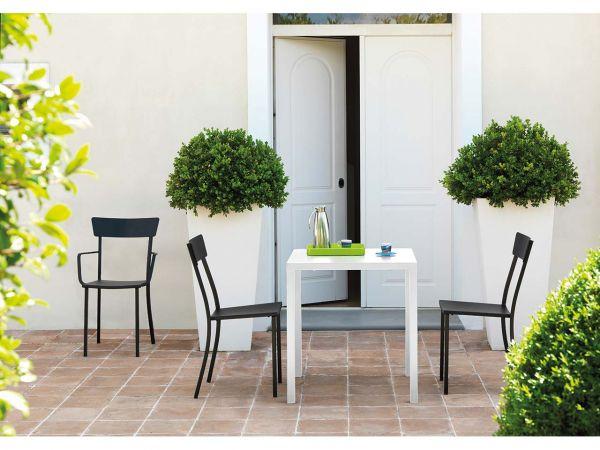 """Gartentisch """"Newtown"""" B 70 x T 70 x H 75 cm, weiß"""