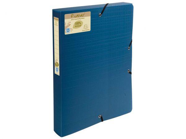 "Exacompta Archivbox ""Forever"" dunkelblau 4 cm breit"