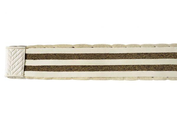 """Latex/Kokos-Matratze """"Coniveo 4"""" H 17 cm, 80 x 200 cm, für 71-80 kg, Baumwolle/Schurwolle"""